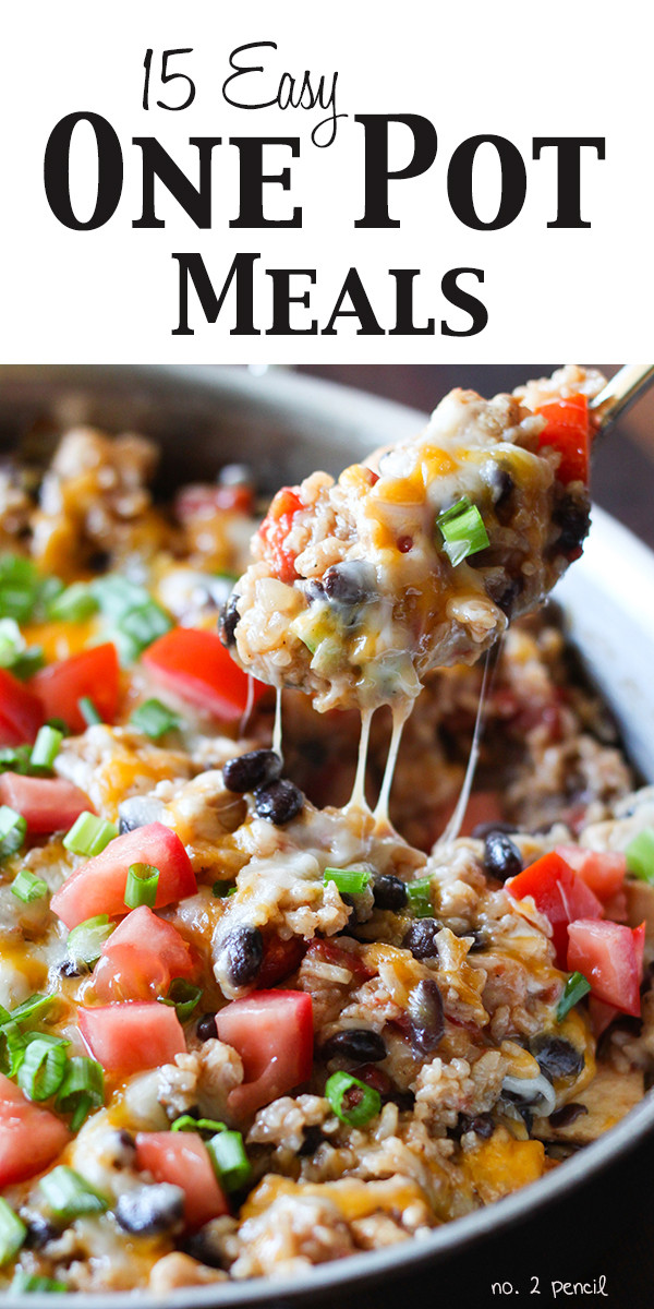 Easy One Pan Dinners  Fifteen Easy e Pot Meals for Dinner No 2 Pencil