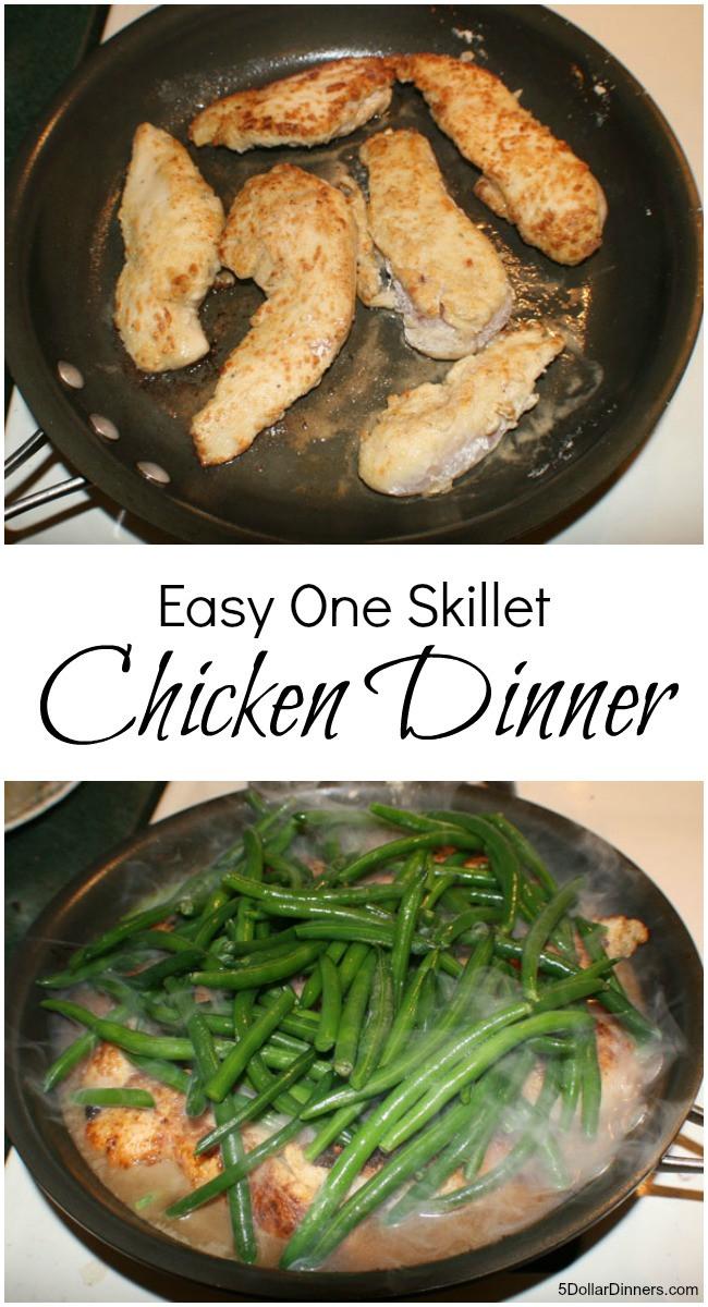Easy One Pan Dinners  Easy e Skillet Chicken Dinner 31 Days of Skillet