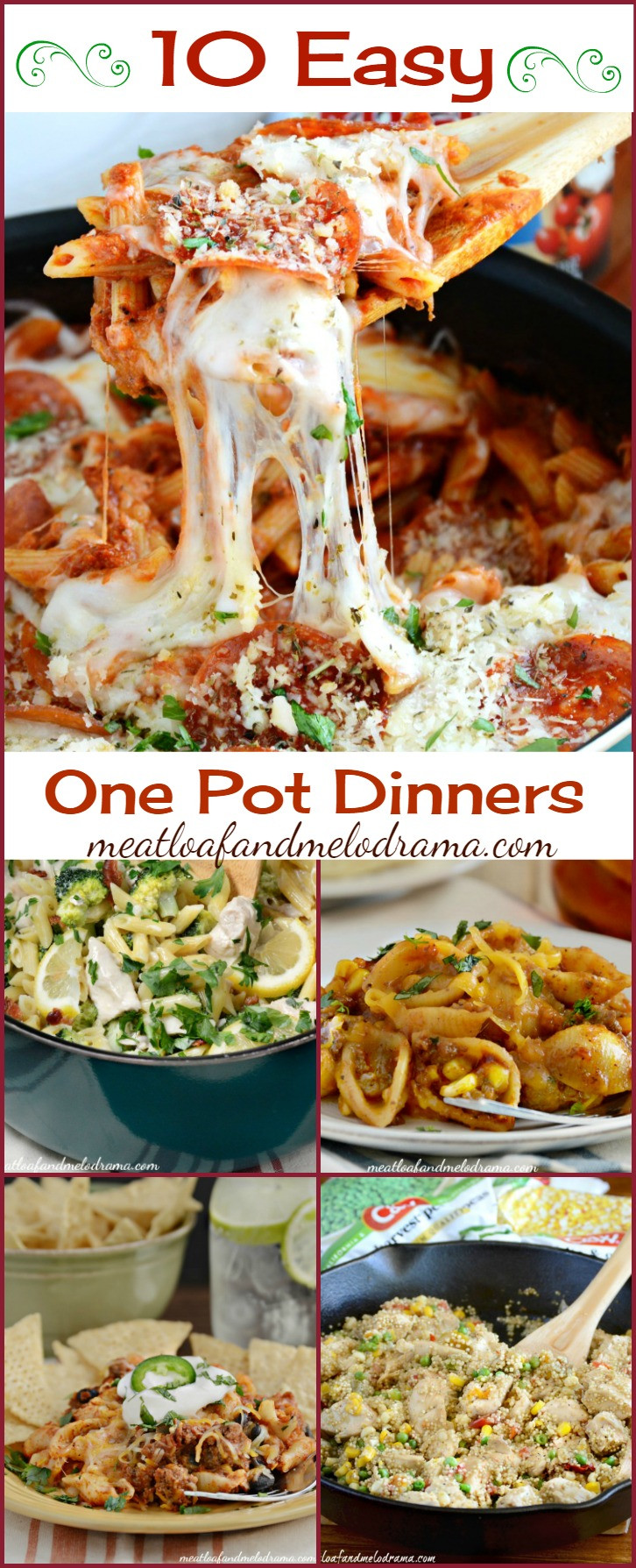 Easy One Pan Dinners  10 Quick and Easy e Pot Dinners Meatloaf and Melodrama