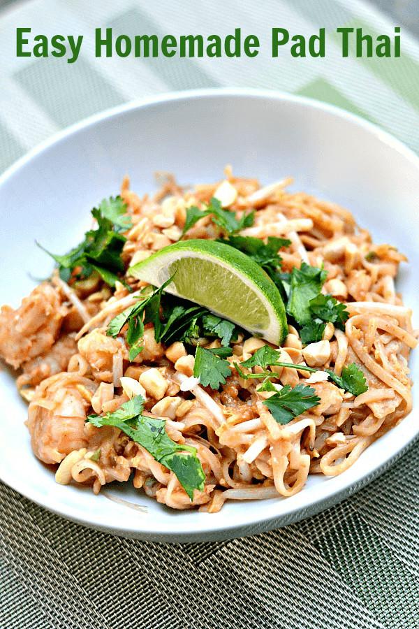 Easy Pad Thai  The Best Easy Homemade Pad Thai Recipe