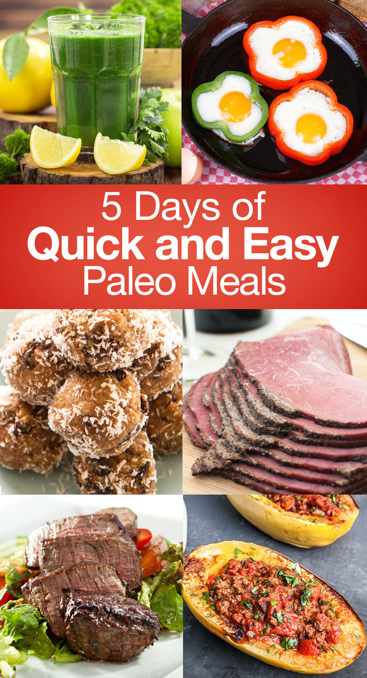 Easy Paleo Dinner  5 Days of Quick and Easy Paleo Meals