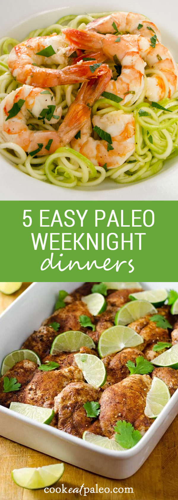 Easy Paleo Dinner  5 Easy Paleo Weeknight Dinners