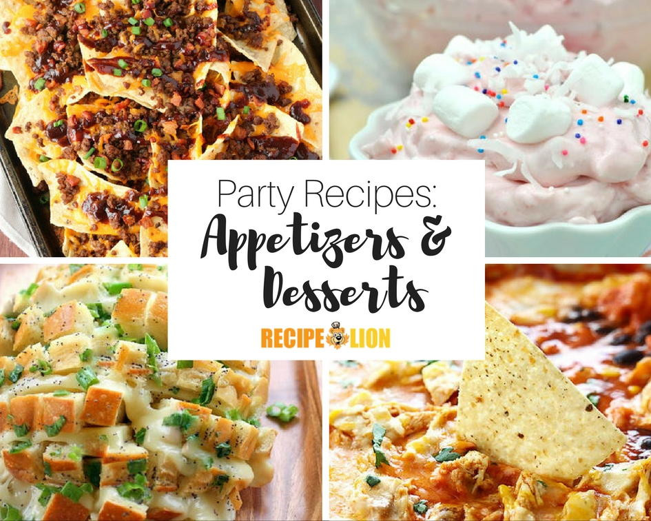 Easy Party Desserts  33 Appetizer Party Recipes and Easy Dessert Recipes