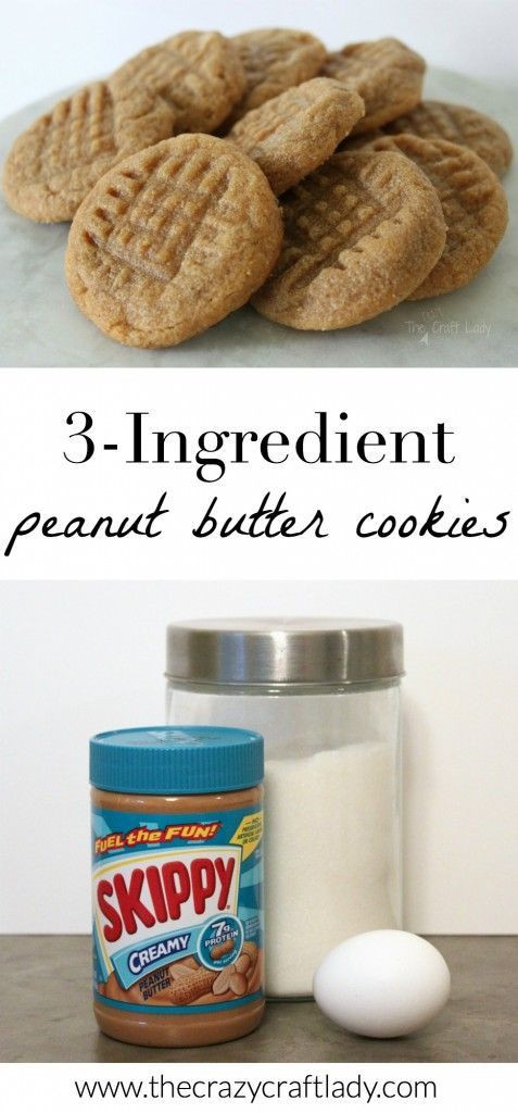 Easy Peanut Butter Cookies No Egg  3 ingre nt peanut butter cookies no egg