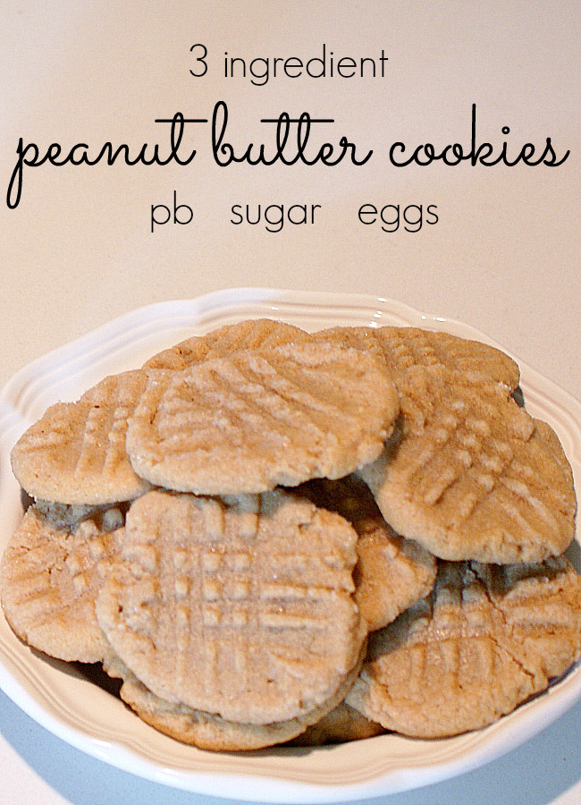 Easy Peanut Butter Cookies No Egg  Easy Peanut Butter Cookie Recipe No Flour