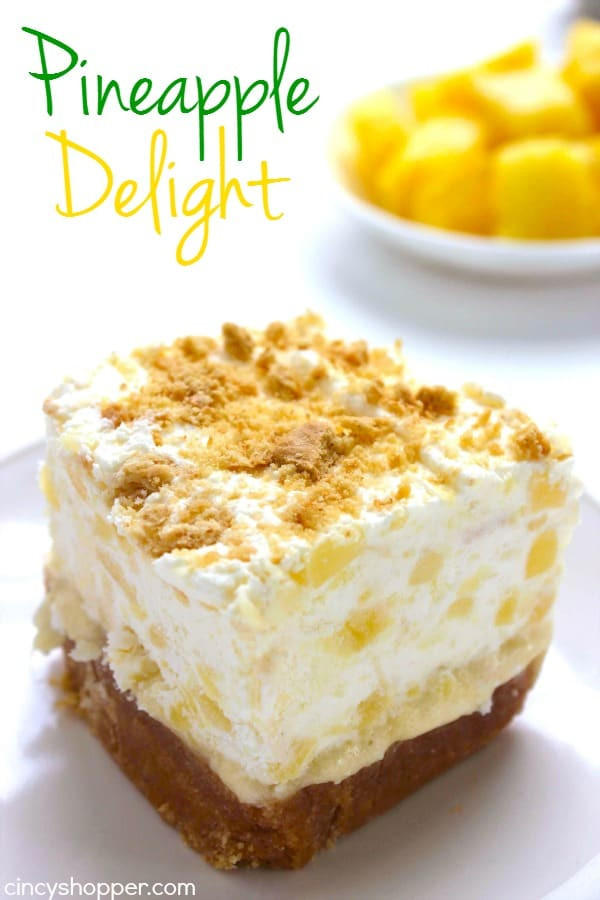 Easy Pineapple Dessert  Pineapple Delight CincyShopper