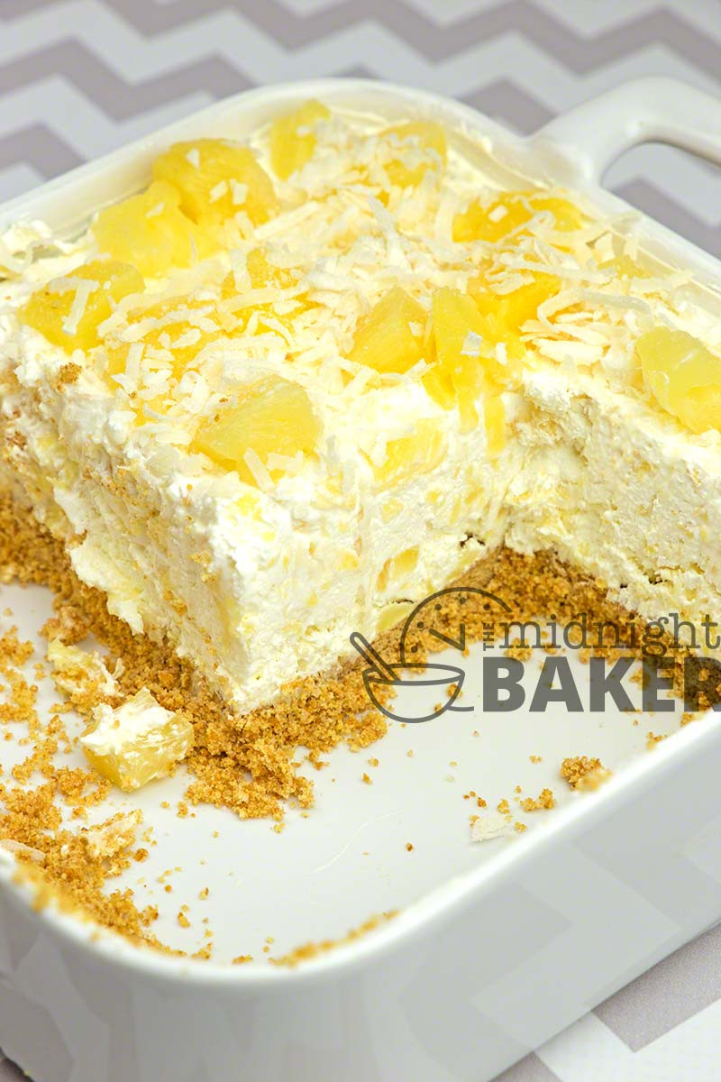 Easy Pineapple Dessert  No Bake Pineapple Cream Dessert The Midnight Baker