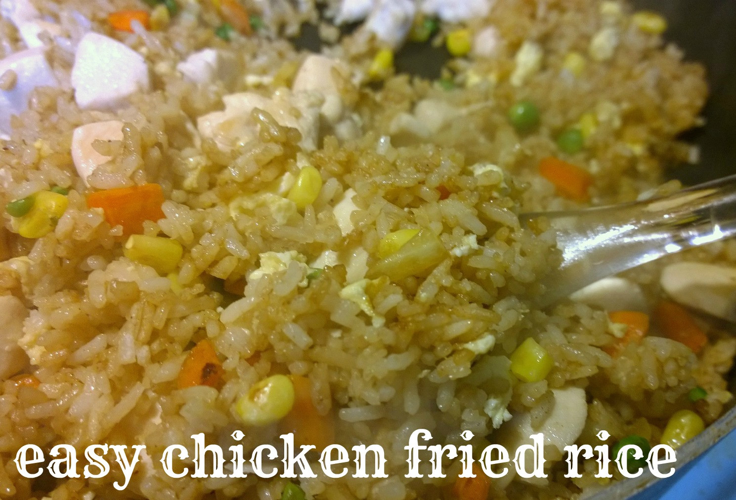 Easy Pork Fried Rice  Easiest Chicken Fried Rice Recipe Momma Without a Clue