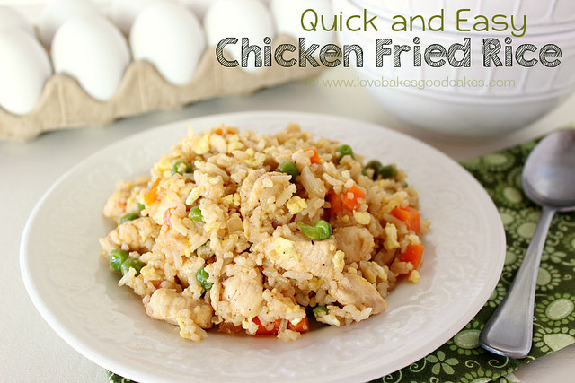 Easy Pork Fried Rice  Quick and Easy Chicken Fried Rice