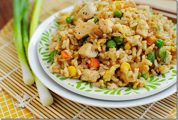 Easy Pork Fried Rice  Riches to Rags by Dori Chicken Fried Rice