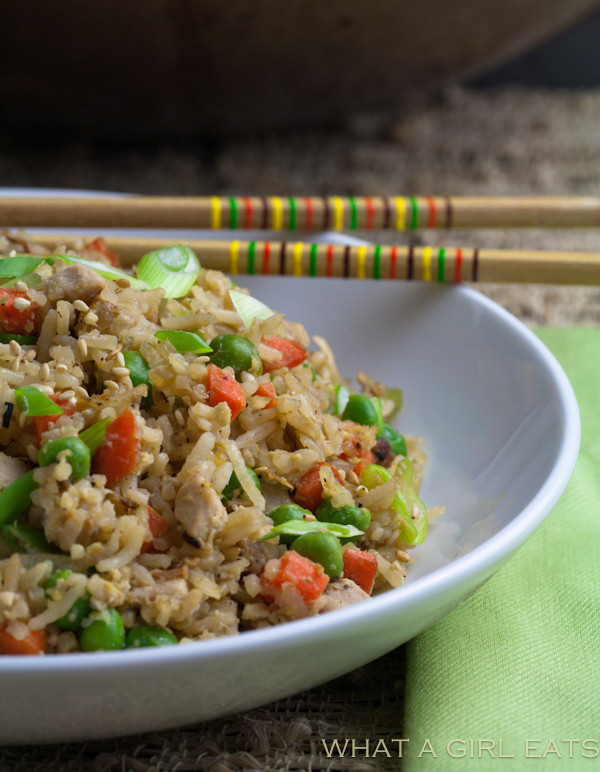 Easy Pork Fried Rice  Easy Pork Fried Rice Quick Dinner Recipe What A Girl Eats