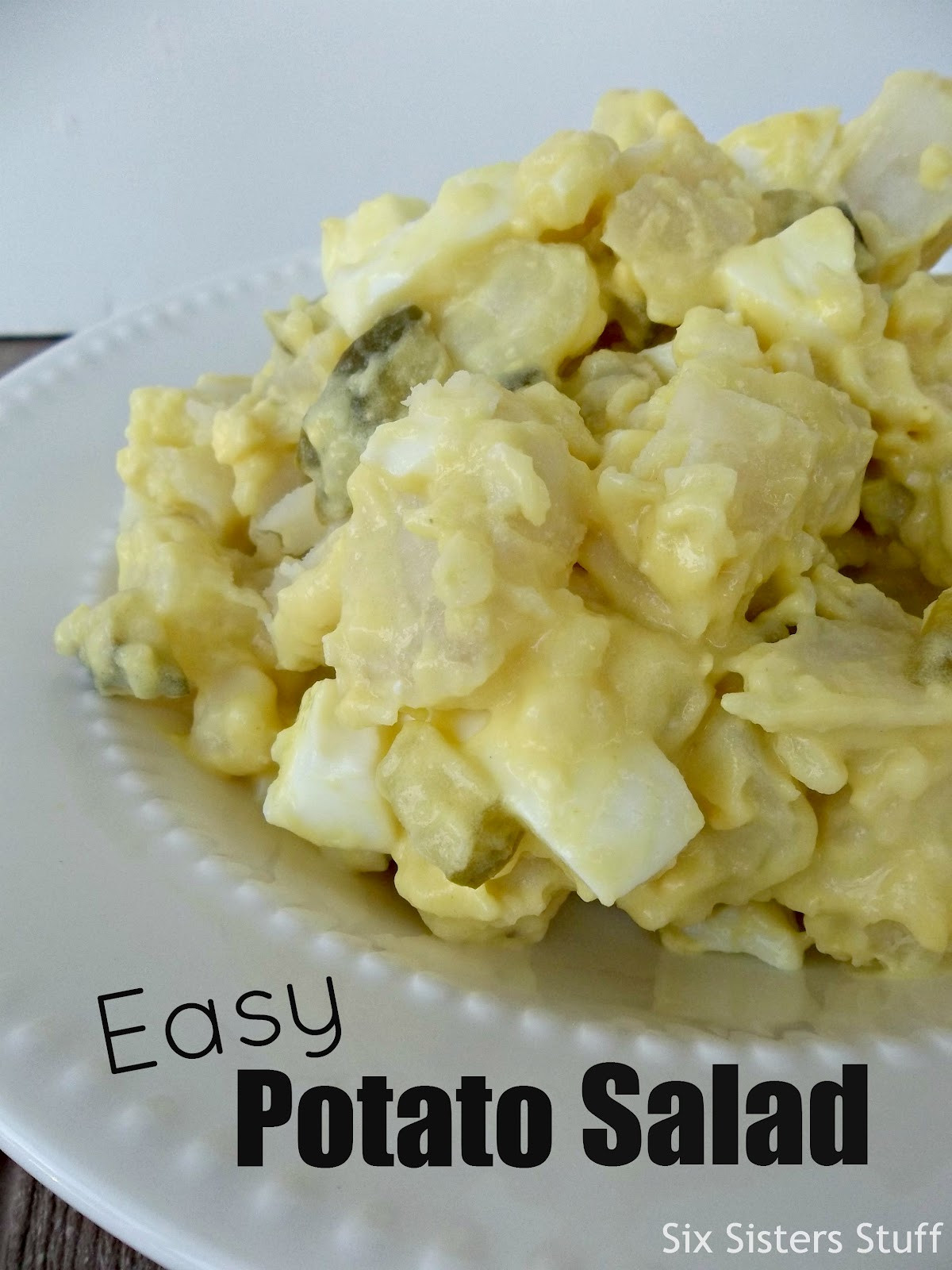 Easy Potato Salad  Mom s Easy Potato Salad Side Dish Six Sisters Stuff