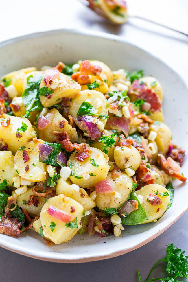 Easy Potato Salad  Bacon Potato Salad Averie Cooks