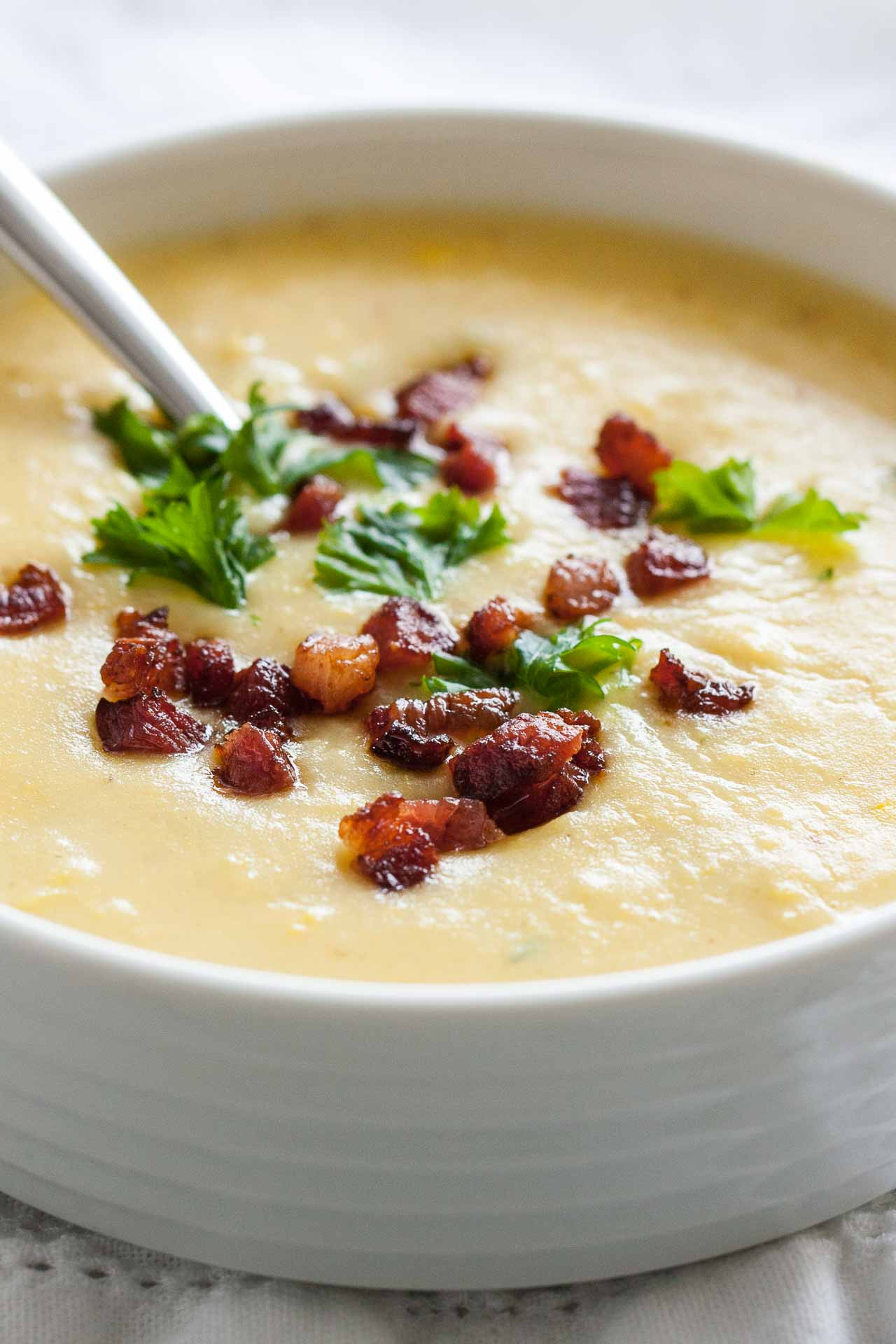 Easy Potato Soup  Easy Potato Bacon Soup with Corn Less than 30 Minutes