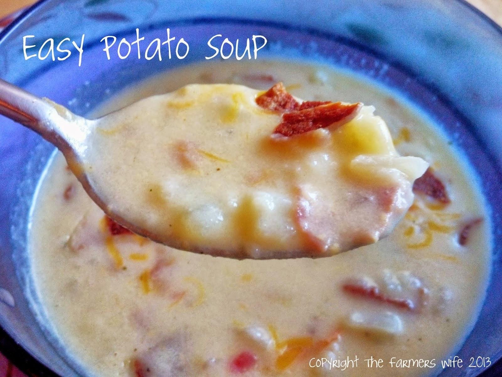 Easy Potato Soup  The Farmers Wife Easy Potato Soup