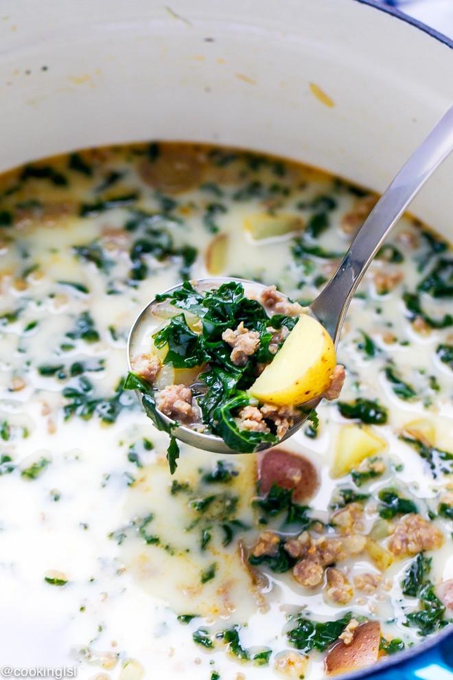 Easy Potato Soup Recipes  Easy Kale Potato And Sausage Soup Recipe Cooking LSL