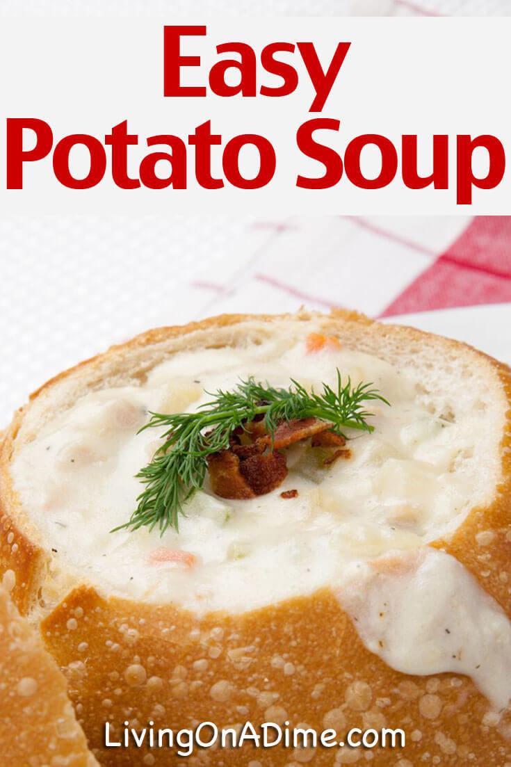 Easy Potato Soup Recipes  Easy Potato Soup Recipes Potato Bacon Chowder