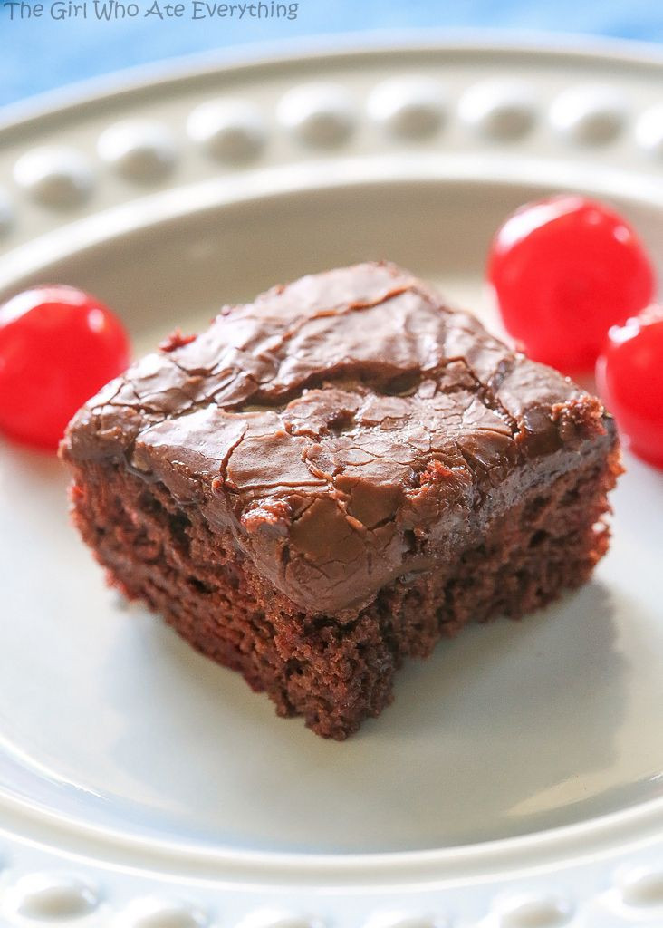 Easy Potluck Desserts  Check out Chocolate Cherry Bars It s so easy to make