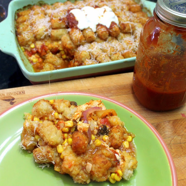 Easy Potluck Main Dishes  Inspired By eRecipeCards Tater Tot Chicken Parmesan PLUS