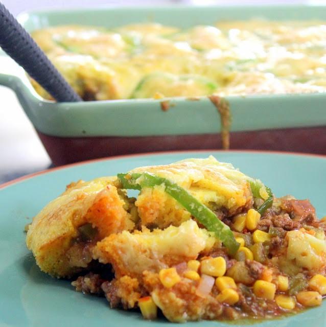 Easy Potluck Main Dishes  Inspired By eRecipeCards Taco Corn Bread Casserole