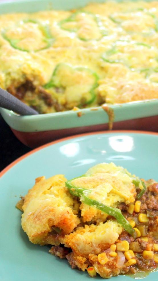 Easy Potluck Main Dishes  52 Ways to Cook Taco Corn Bread Casserole Church
