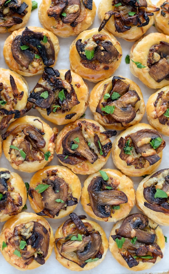 Easy Puff Pastry Appetizers  Cheesy Mushroom Puff Pastry Bites