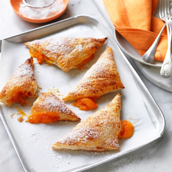 Easy Puff Pastry Desserts  Apricot Turnover with Sugared Puff Pastry Recipe