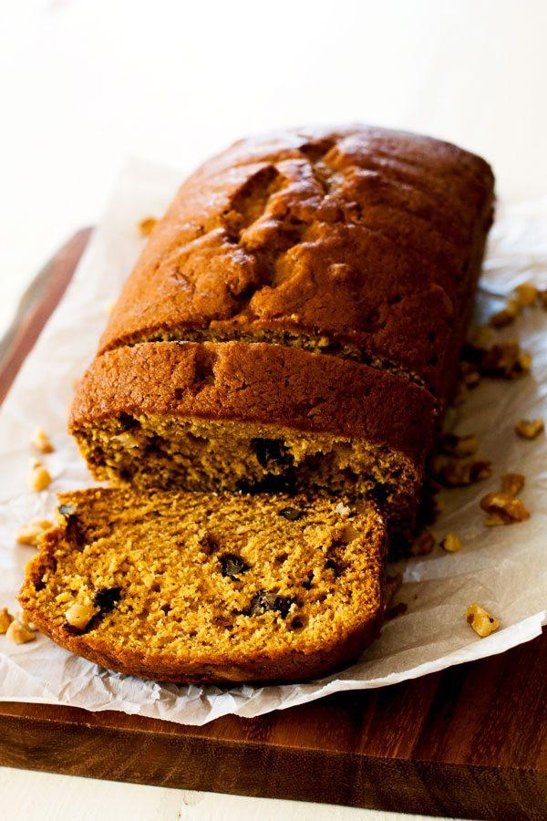 Easy Pumpkin Bread Recipe With Canned Pumpkin  Pumpkin Pie Spiced Pumpkin Bread with Walnuts Food