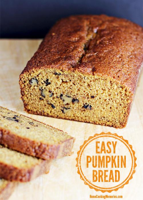 Easy Pumpkin Bread Recipe With Canned Pumpkin  Easy Pumpkin Bread Home Cooking Memories