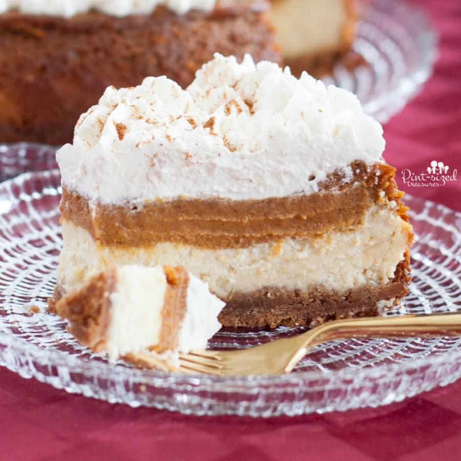 Easy Pumpkin Cheesecake Recipe  The Easy Pumpkin Pie Cheesecake You Need Now · Pint sized