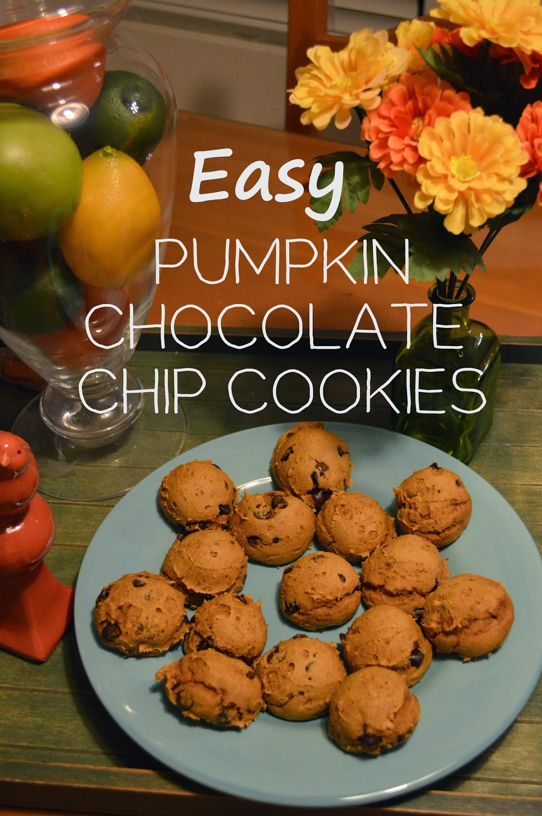 Easy Pumpkin Chocolate Chip Cookies  easy pumpkin chocolate chip cookies Alyssa Dawson Blog