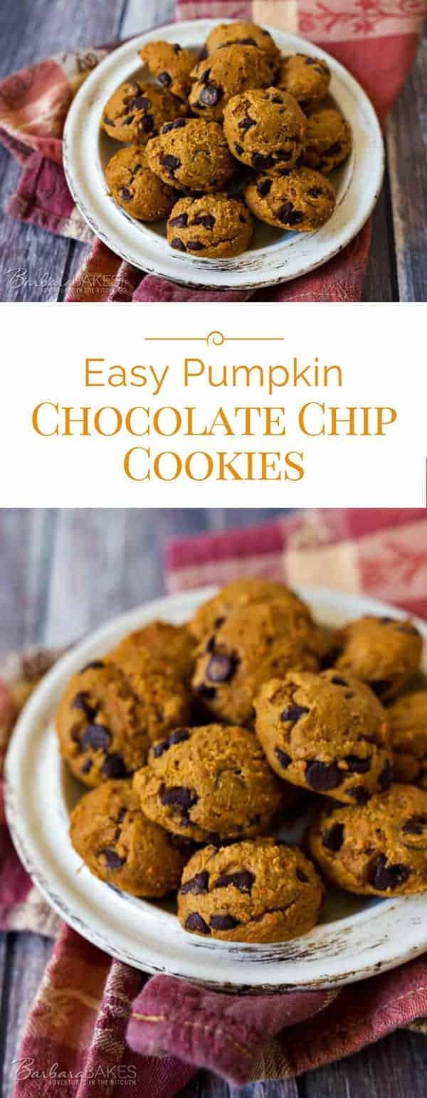 Easy Pumpkin Chocolate Chip Cookies  Easy Pumpkin Chocolate Chip Cookies Barbara Bakes™