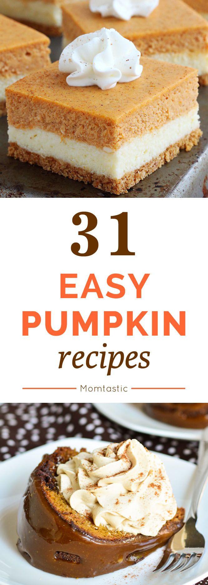 Easy Pumpkin Desserts  1000 images about Dessert Recipes on Pinterest