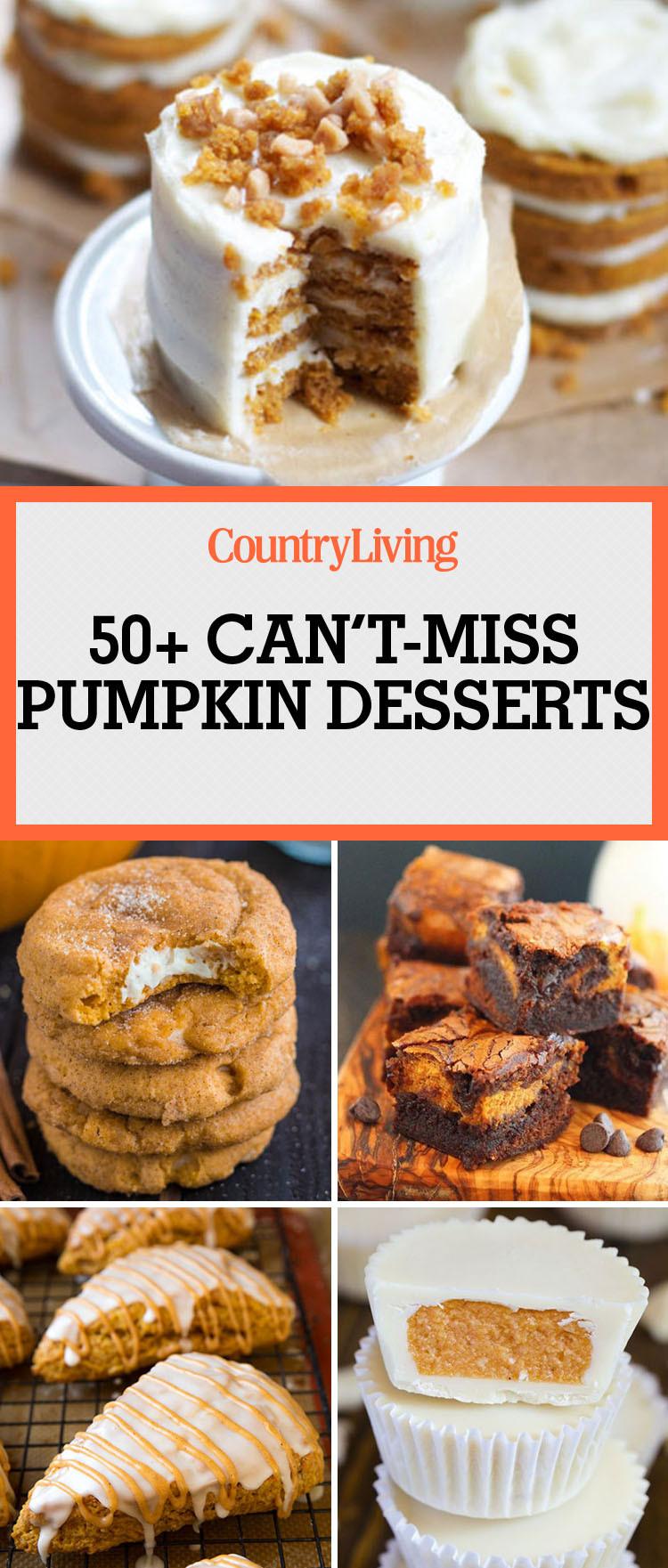 Easy Pumpkin Desserts  55 Easy Pumpkin Dessert Recipes Sweet Fall Pumpkin Desserts