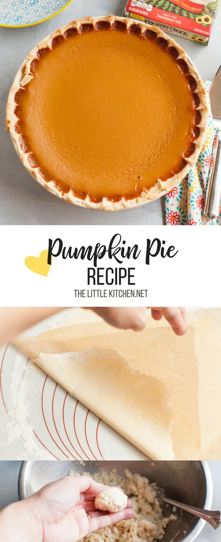 Easy Pumpkin Pie Recipe  Easy Pumpkin Pie Recipe The Little Kitchen