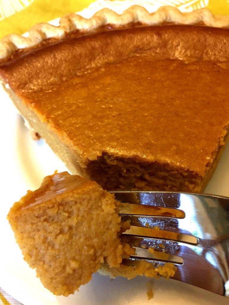 Easy Pumpkin Pie Recipe  fresh pumpkin pie condensed milk