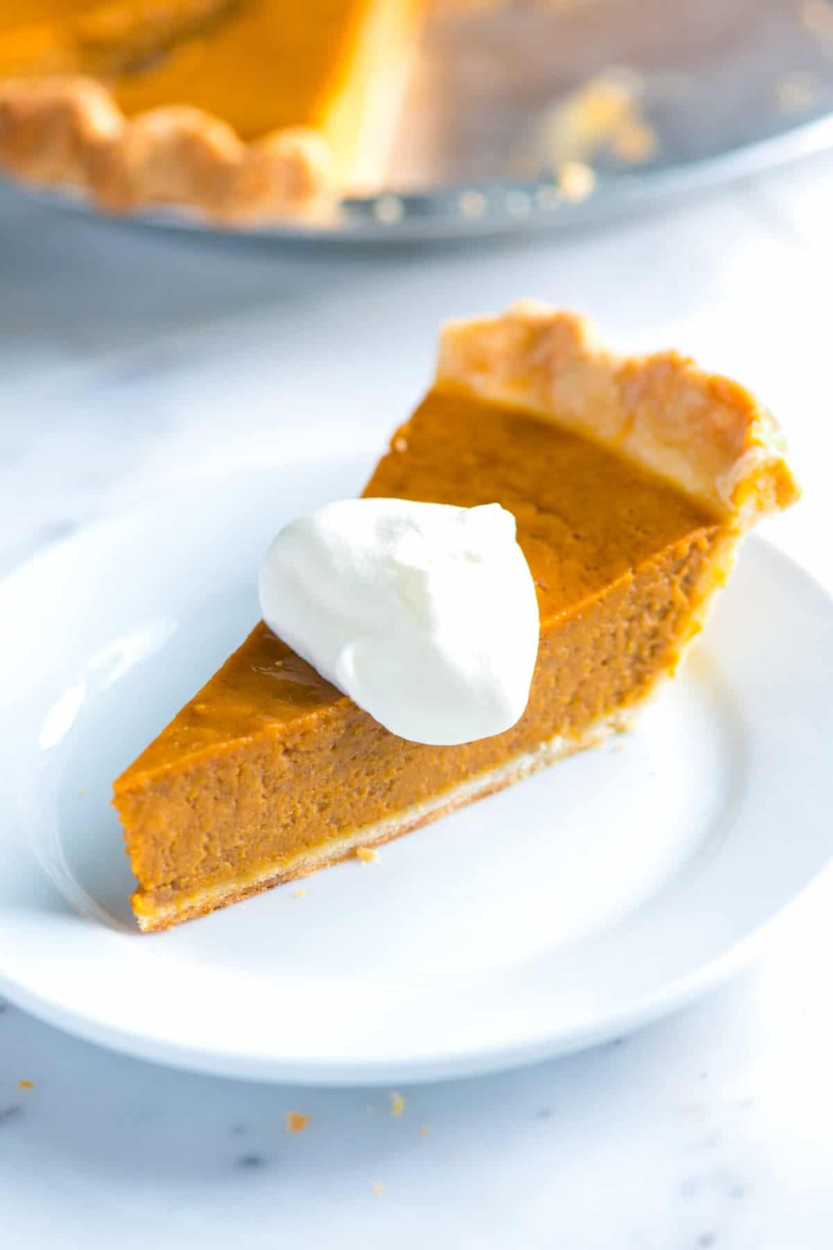 Easy Pumpkin Pie Recipe  easy real pumpkin pie