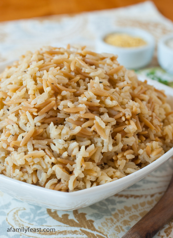Easy Rice Pilaf  Rice Pilaf A Family Feast