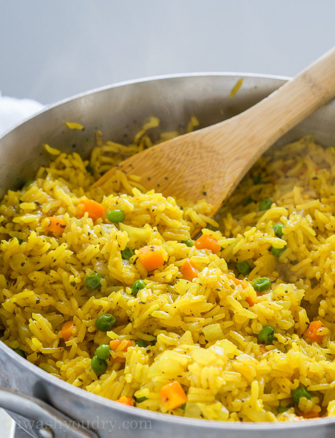 Easy Rice Pilaf  Easy Ve able Rice Pilaf I Wash You Dry