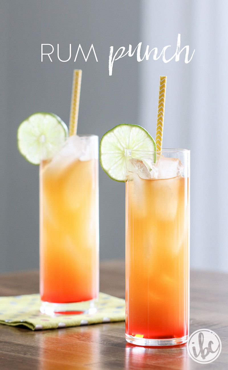 Easy Rum Drinks  Rum Punch an easy rum punch recipe loaded with tropical