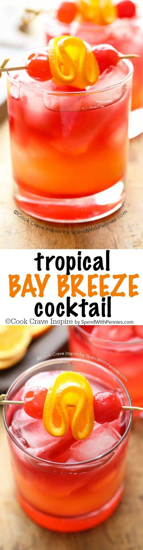 Easy Rum Drinks  Tropical Bay Breeze Cocktail Recipe