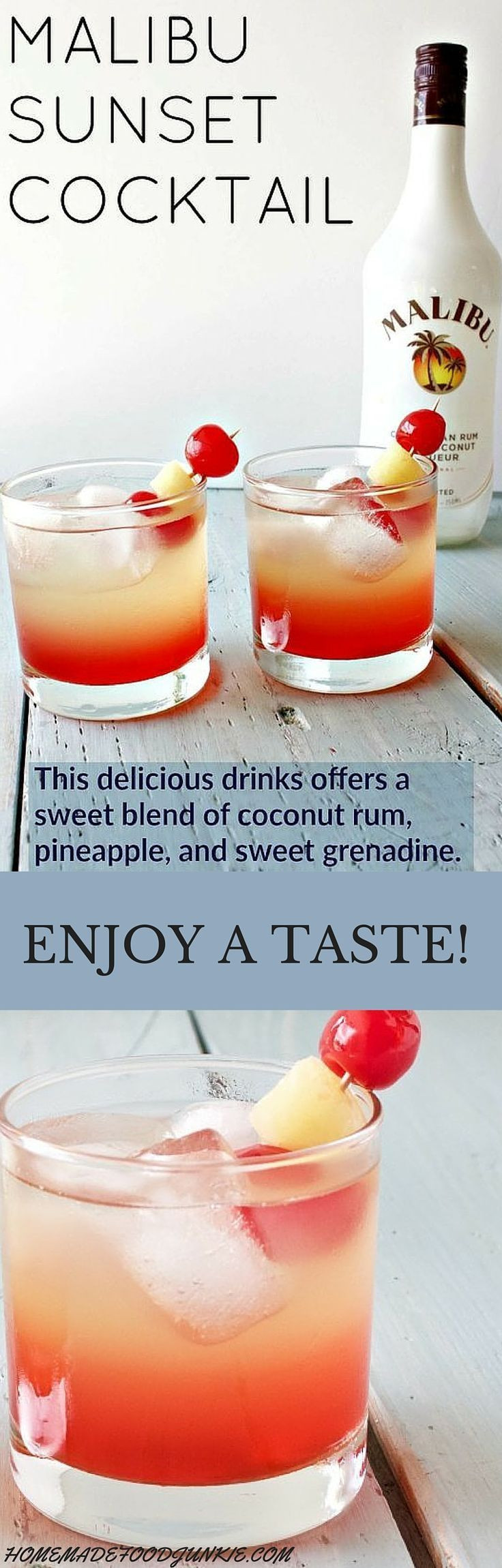 Easy Rum Drinks  44 best images about Malibu on Pinterest