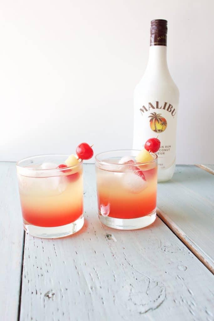 Easy Rum Drinks  Malibu Sunset Cocktail Recipe Homemade Food Junkie