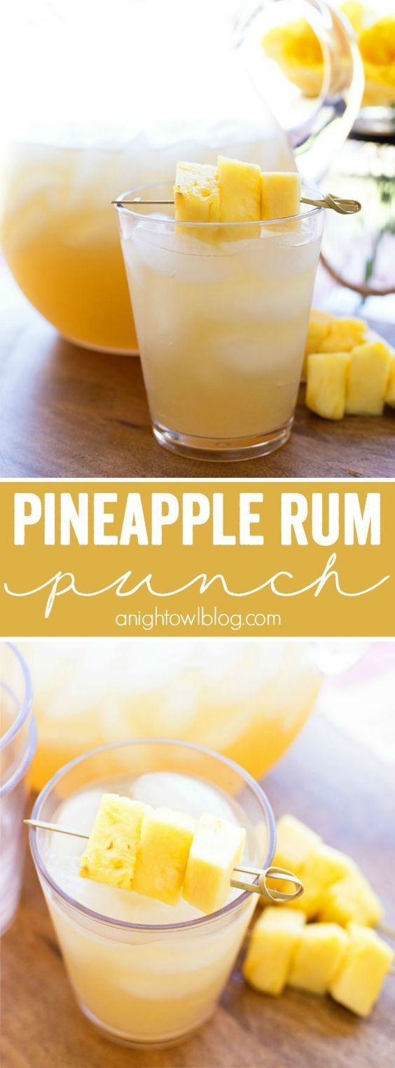 Easy Rum Drinks  Pineapple rum Rum punches and Party drinks on Pinterest