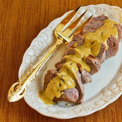 Easy Sauces For Pork Tenderloin  Easy Pan Fried Pork Tenderloin with Mustard Sauce Kalyn