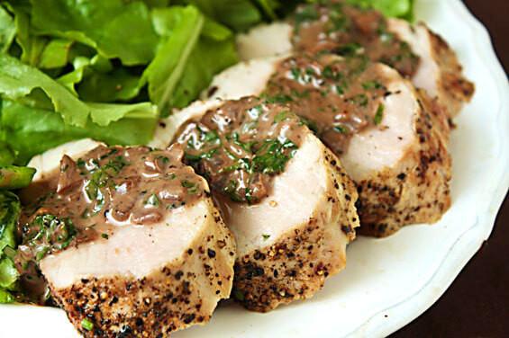 Easy Sauces For Pork Tenderloin  Pork Tenderloin With Burgundy Peppercorn Sauce