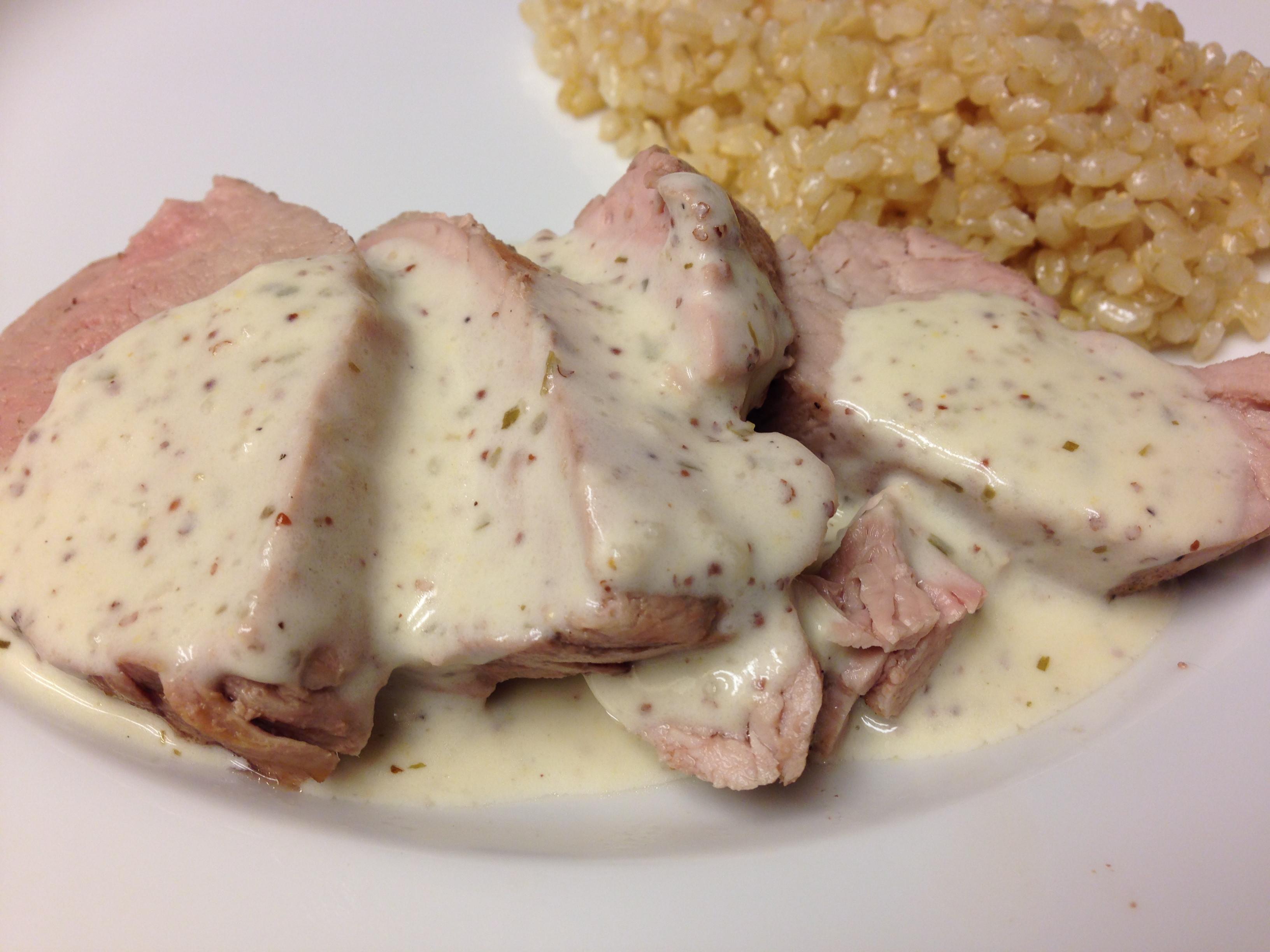 Easy Sauces For Pork Tenderloin  Pork Tenderloin with Tarragon Mustard Sauce