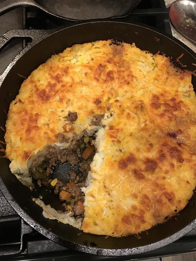 Easy Shepherd'S Pie With Instant Mashed Potatoes  Skillet Shepherd s Pie