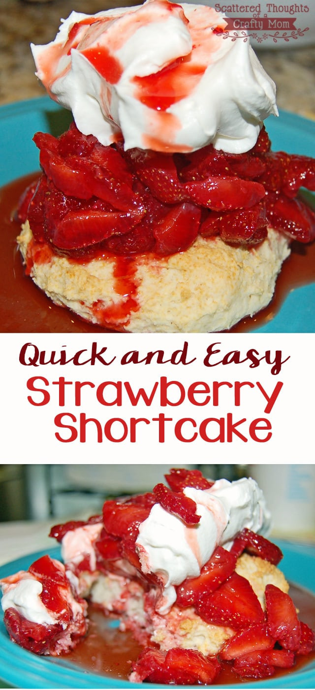 Easy Shortcake Recipe  Quick and Easy Strawberry Shortcake Recipe Scattered