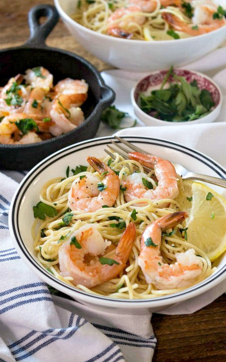 Easy Shrimp Dinners  Quick Low Cal Shrimp Scampi Simply Fresh Dinners